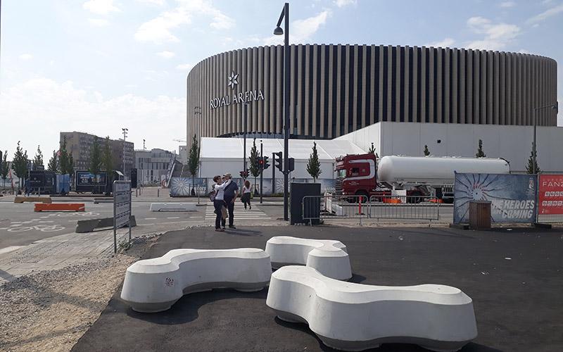 Obstruct bollard at Royal Arena, Copenhagen