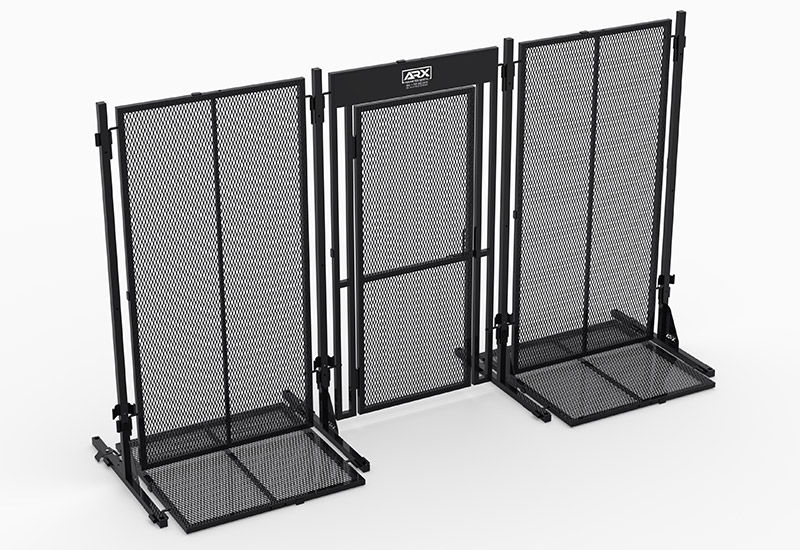 Mobile high-security fencing